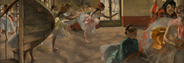 Detail from Hilaire-Germain-Edgar Degas, The Rehearsal, about 1874 © CSG CIC Glasgow Museums Collection