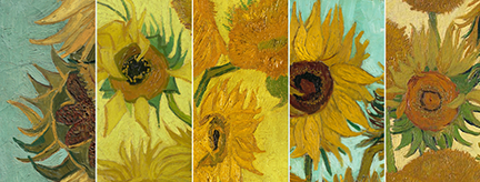 Today Five Sunflowers Paintings Are Located In Museums Across The Globe And Have Never Been United Until Now That Is On 14 August 2017 A World First