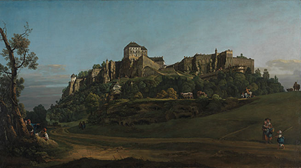 Bernardo Bellotto, 'The Fortress of Königstein from the North', about 1756-58