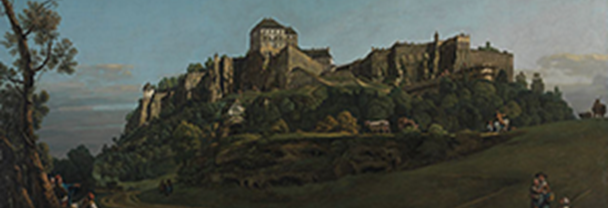 Detail from Bernardo Bellotto, 'The Fortress of Königstein from the North', about 1756-58
