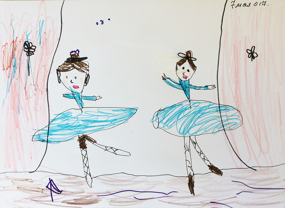 'The Dancers' by Emilia aged 3