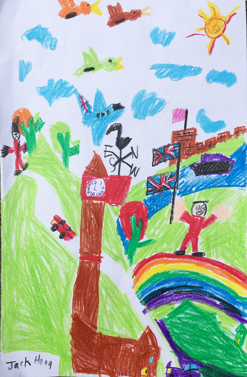 'The view of the UK I love so much' by Jack aged 6 from South Korea