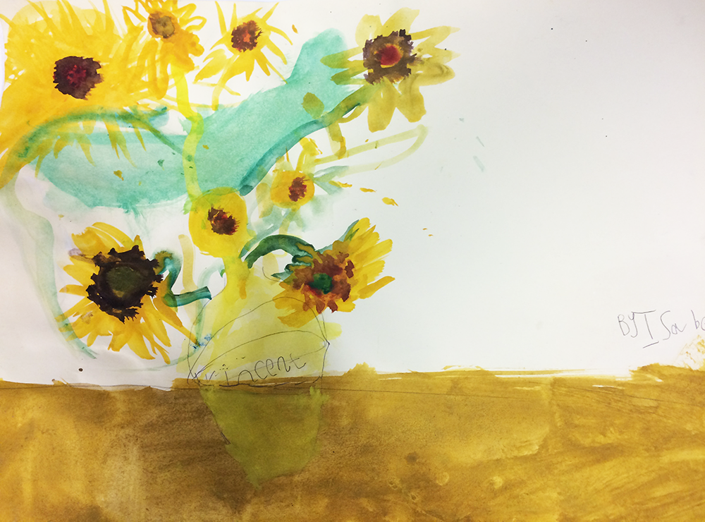'The Sunflowers' by Isabella aged 4