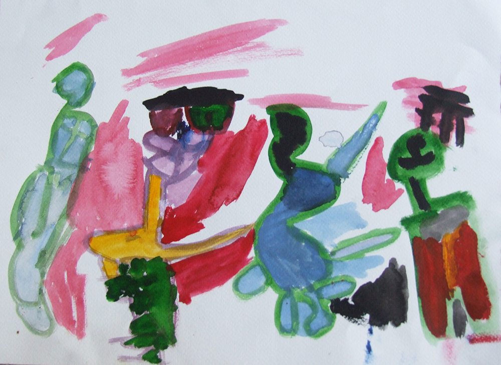 'Watercolor' by Jonaki aged 4 from India