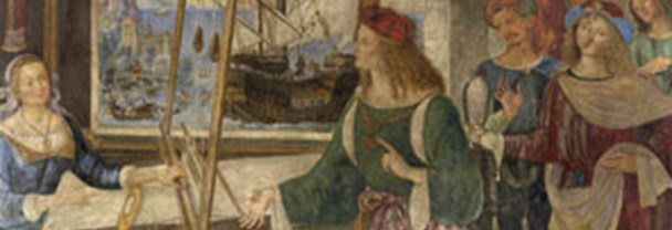 Detail from Pintoricchio's 'Penelope with the Suitors', about 1509
