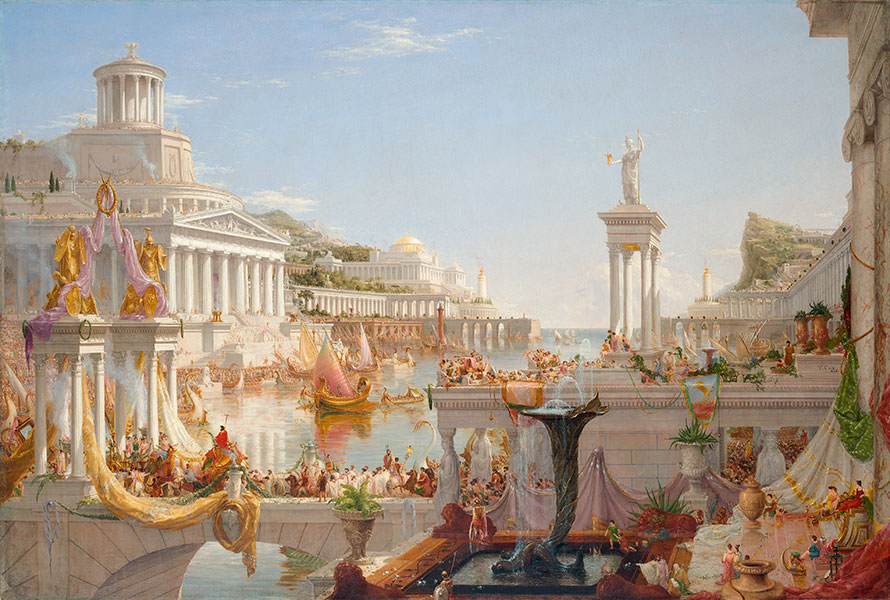 Thomas Cole, 'The Course of Empire: The Consummation of Empire', 1835–6. Courtesy of the New-York Historical Society © Collection of The New-York Historical Society, New York / Digital image created by Oppenheimer Editions