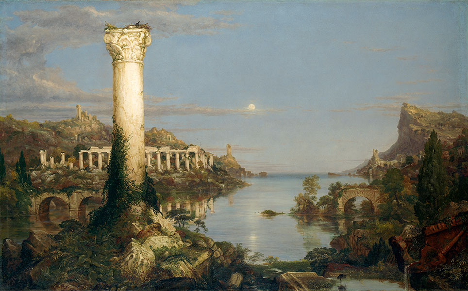 Thomas Cole, 'The Course of Empire: Desolation', 1836. Courtesy of the New-York Historical Society © Collection of The New-York Historical Society, New York / Digital image created by Oppenheimer Editions