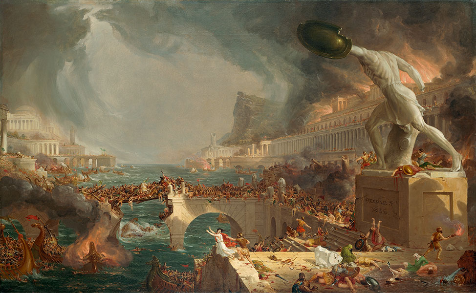 Thomas Cole, The Course of Empire: Destruction', 1836. Courtesy of the New-York Historical Society © Collection of The New-York Historical Society, New York / Digital image created by Oppenheimer Editions