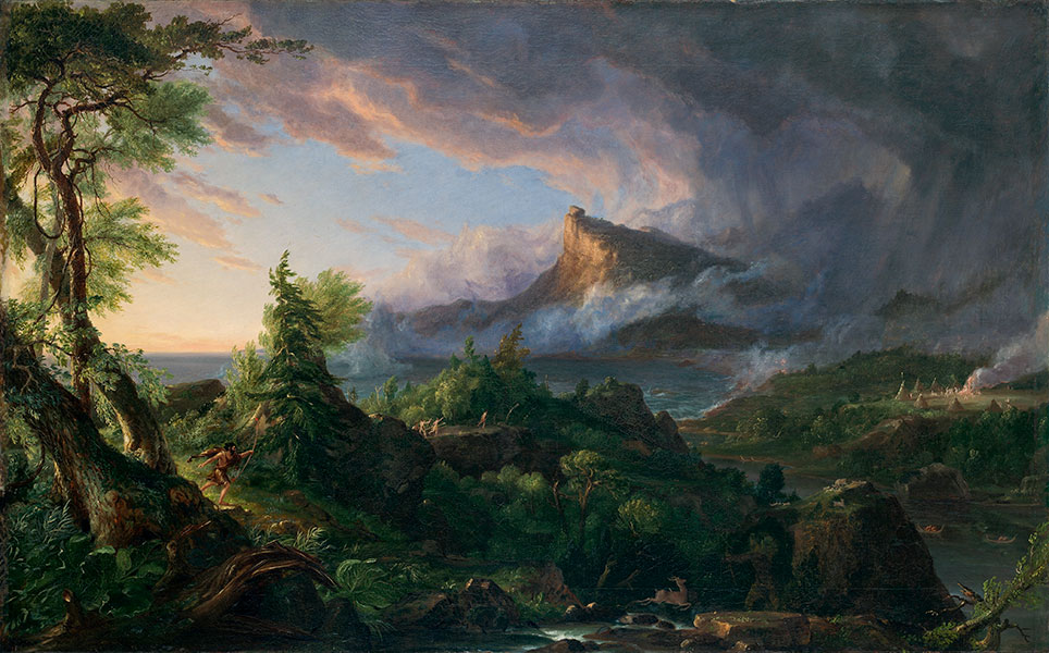 Thomas Cole, 'The Course of Empire: The Savage State', 1836. Courtesy of the New-York Historical Society © Collection of The New-York Historical Society, New York / Digital image created by Oppenheimer Edition
