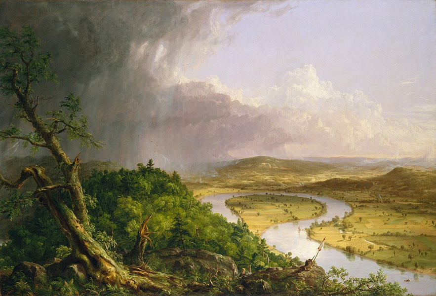 Thomas Cole, 'View from Mount Holyoke, Northampton, Massachusetts, after a Thunderstorm – The Oxbow', 1836 © The Metropolitan Museum of Art, New York