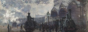 Detail from Claude Monet, The Gare St-Lazare, 1877