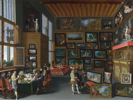 Flemish, Cognoscenti in a Room hung with Pictures, about 1620
