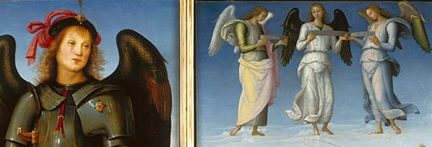 Detail from Pietro Perugino, Three Panels from an Altarpiece, Certosa about 1496-1500
