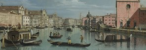Detail from Bernardo Bellotto, Venice: The Grand Canal facing Santa Croce, about 1738
