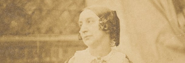 Portrait photograph of Lady Elizabeth Eastlake, wife of Sir Charles Lock Eastlake first director of The National Gallery.
