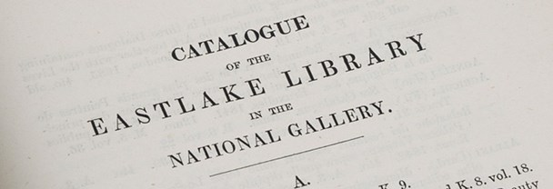 An excerpt from the Catalogue of the Eastlake Library of the National Gallery