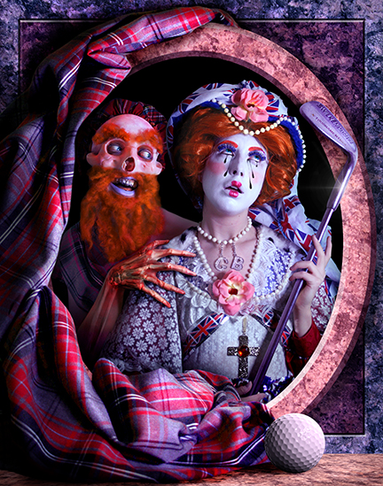 Rachel Maclean, The Queen, 2013. Commissioned and published by Edinburgh Printmakers © Rachel Maclean