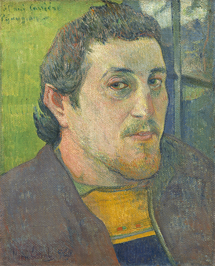 Paul Gauguin, 'Self-Portrait Dedicated to Carrière', 1888 or 1889; National Gallery of Art, Washington, DC; Collection of Mr. and Mrs. Paul Mellon (1985.64.20);  Image courtesy of the Board of Trustees, National Gallery of Art, Washington, DC.