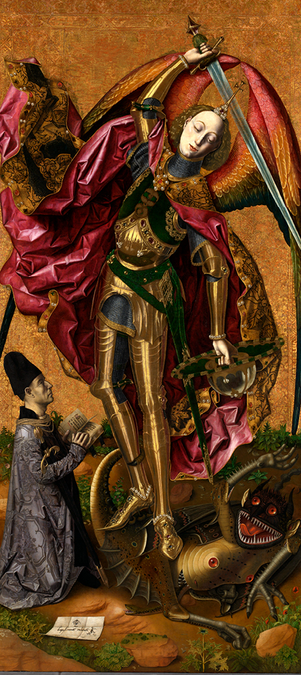 Bartolomé Bermejo, 'Saint Michael Triumphs over the Devil' 1468