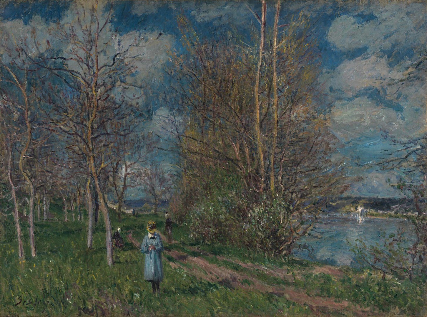 The Small Meadows in Spring by Alfred Sisley