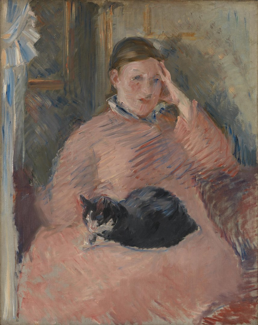 Woman with a Cat by Edouard Manet