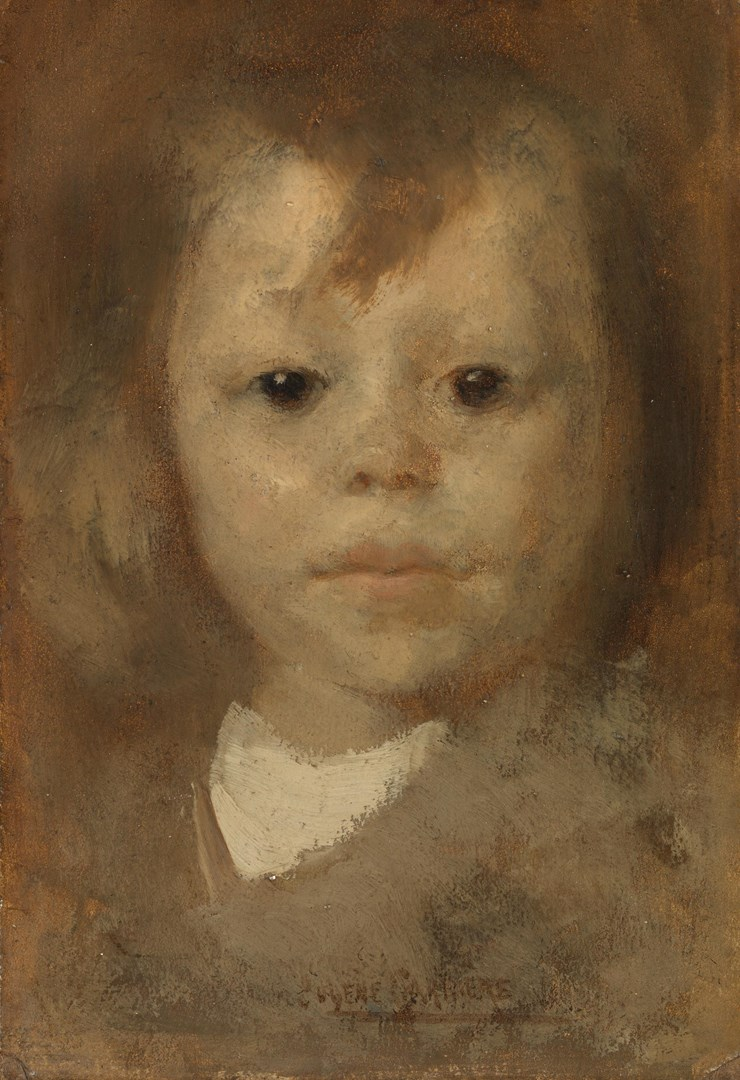Head of a Child by Eugène Carrière