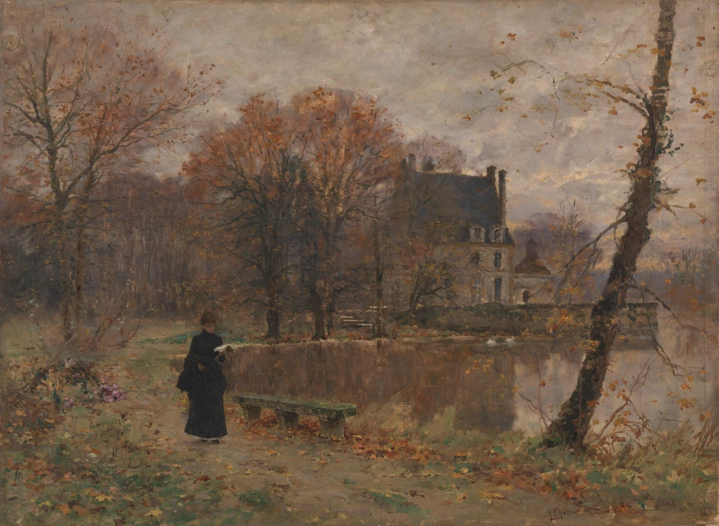 Park of Sansac (Indre-et-Loire) by Armand Charnay