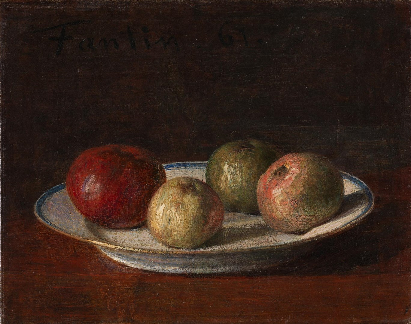 A Plate of Apples by Ignace-Henri-Théodore Fantin-Latour