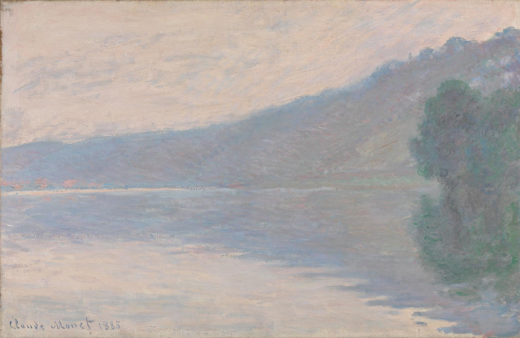The Seine at Port-Villez by Claude Monet