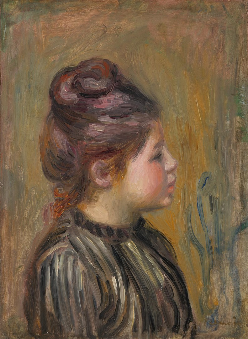 Head of a Girl by Pierre-Auguste Renoir