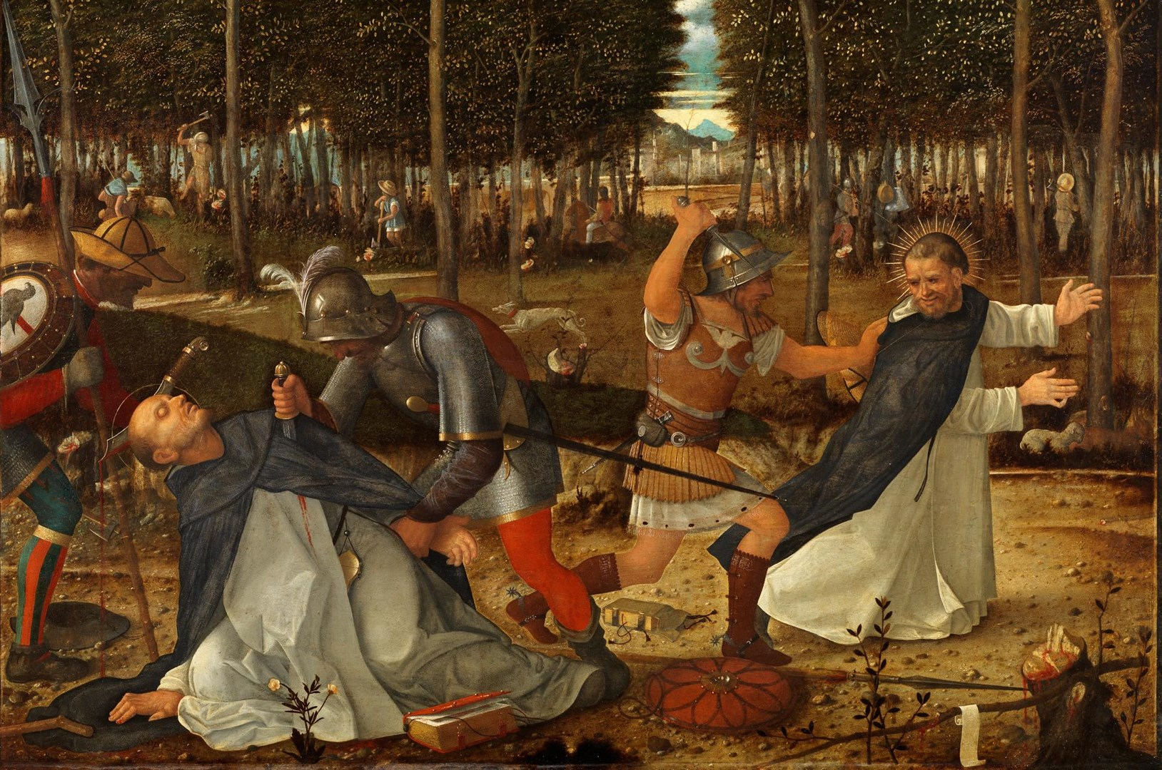 The Assassination of Saint Peter Martyr by Workshop of Giovanni Bellini