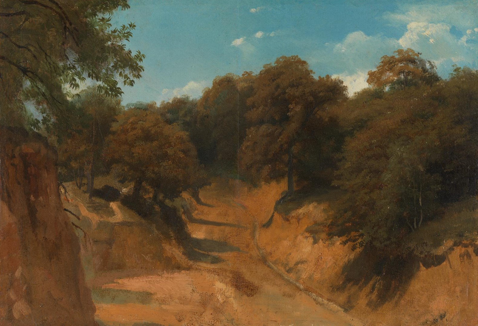 A Road in the Roman Campagna by Eugène-Ferdinand Buttura