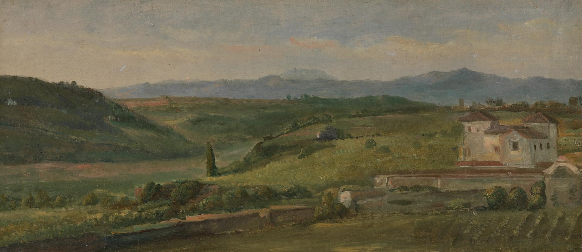 Panoramic Landscape with a Farmhouse by George Frederic Watts