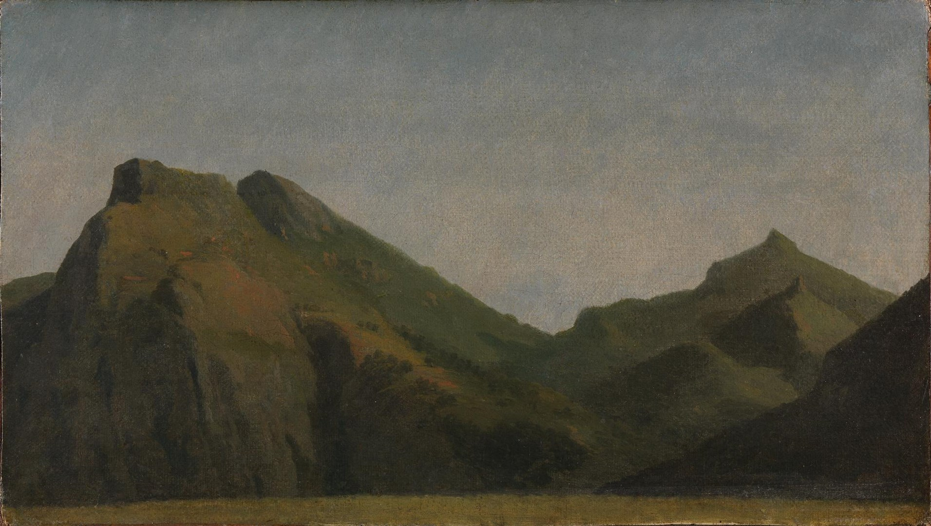 Green Mountains by Probably by Josephus Augustus Knip