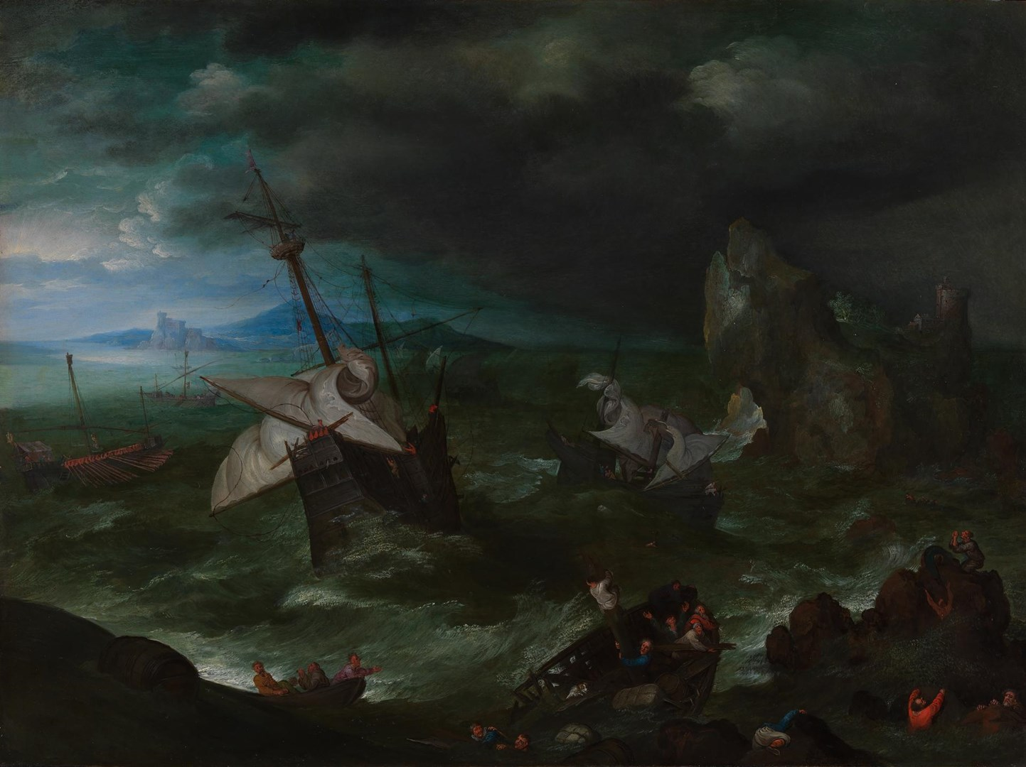A Sea Storm by Jan Brueghel the Elder