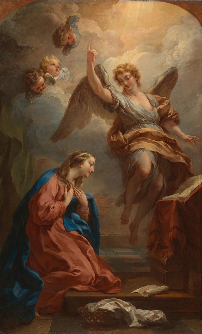 The Annunciation by François Lemoyne