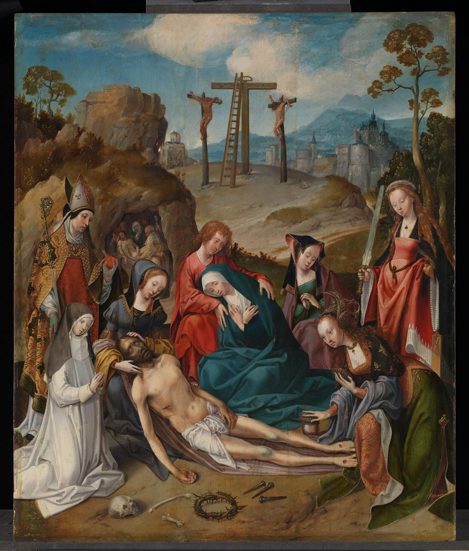 The Lamentation with Donors and Saints by Cornelis Engebrechtsz. and workshop