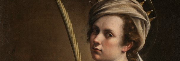 Detail from Artemisia Gentileschi, Self Portrait as Saint Catherine of Alexandria, about 1615-17