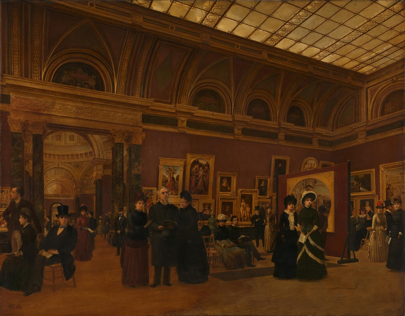 The National Gallery 1886, Interior of Room 32 by Giuseppe Gabrielli