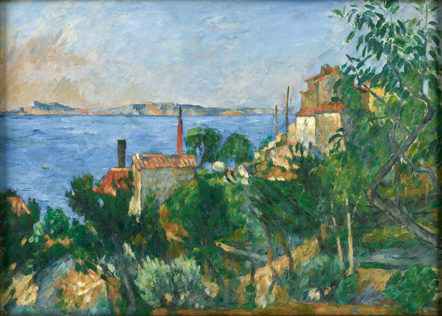The Sea at L'Estaque by Paul Cézanne