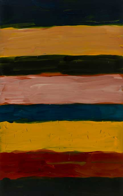 Sean Scully, Landline China 8, 2018, Oil on aluminium, 300 × 190 cm, Private collection (SS3506), © Sean Scully. Photo: courtesy the artist