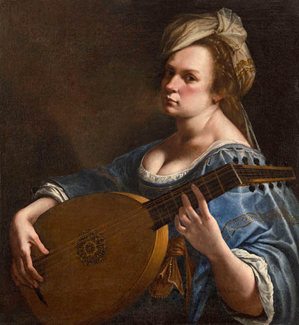 Artemisia Gentileschi, Self-Portrait as a Lute Player, c. 1615-18 © Wadsworth Atheneum Museum of Art