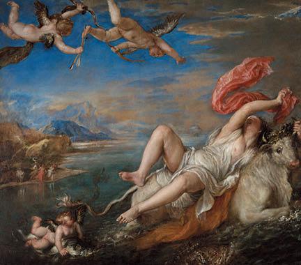 Titian, 'Rape of Europa', 1562 © Isabella Stewart Gardner Museum, Boston