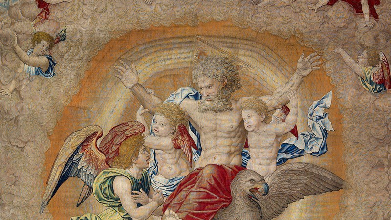 Image result for Pieter Coecke van Aelst, 'Vision of Ezekiel', about 1521 © Museo Nacional de Artes Decorativas. Madrid