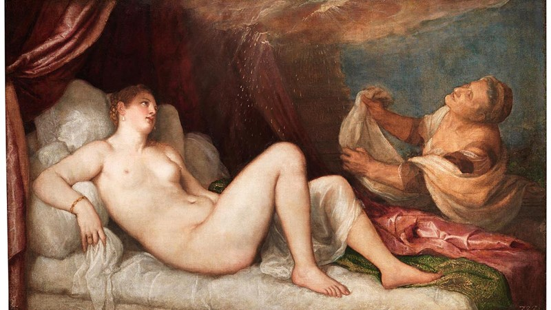 Titian, 'Danaë', probably 1554–6. Wellington Collection, Apsley House © Stratfield Saye Preservation Trust