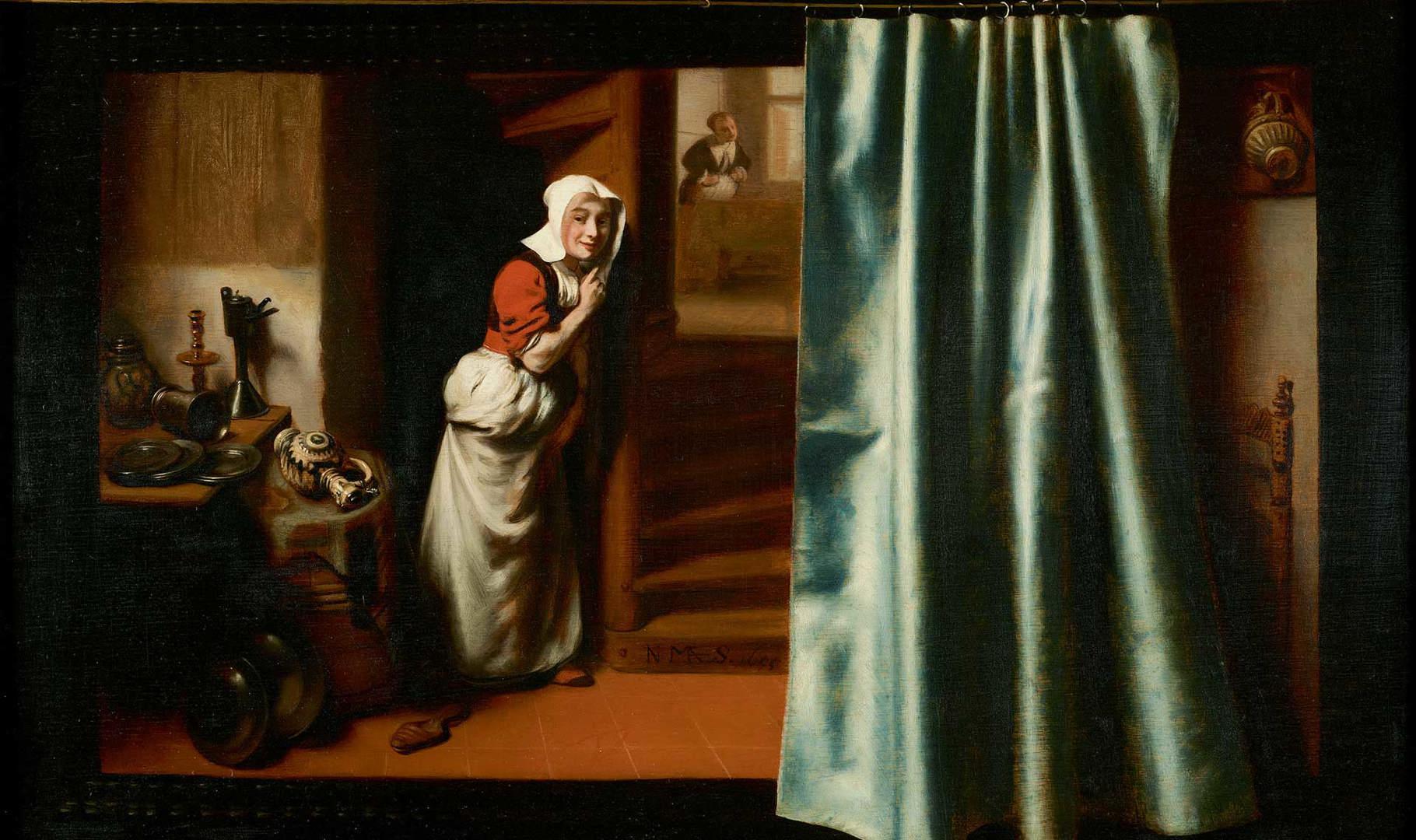 Image result for Nicolaes Maes, 'the eavesdropper
