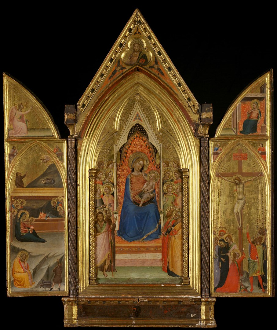 Triptych: The Virgin and Child enthroned with Saints by Bernardo Daddi
