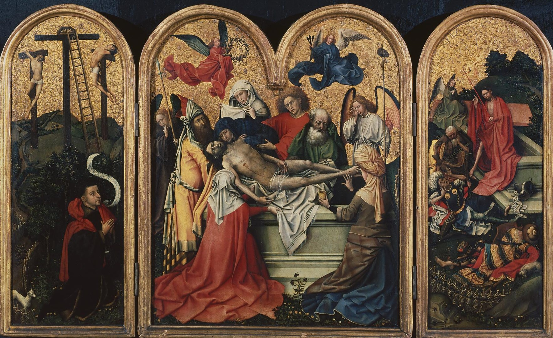 The Entombment (The Seilern Triptych) by Robert Campin