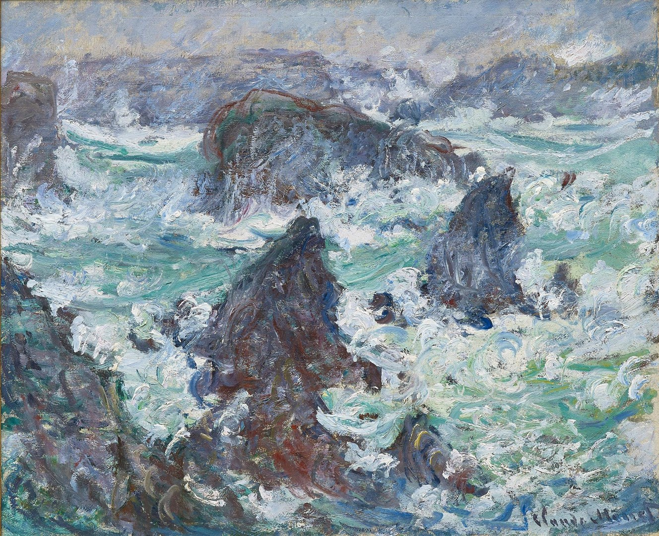 Claude Monet | Storm at Belle-Ile | L1285 | National Gallery, London