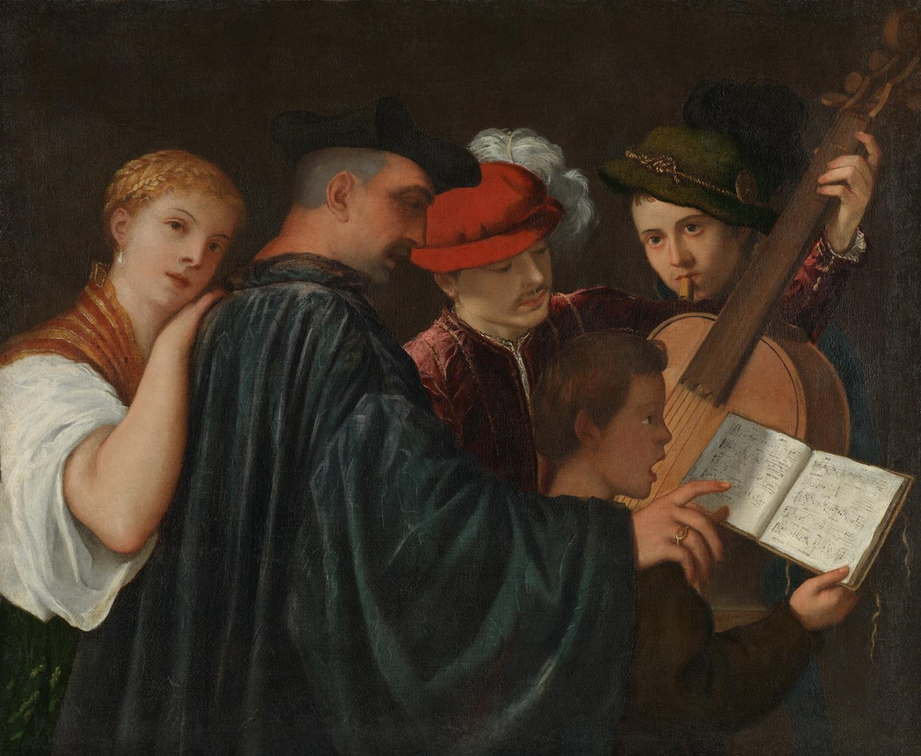 The Music Lesson by Possibly by Titian